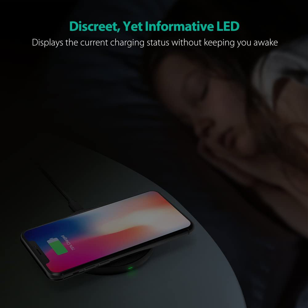 Galaxy S9 S8 Qi Wireless Charging Pad RAVPower Qi Certified Ultra-Safe Wireless Charger Compatible iPhone Xs Max XR XS X 8 Plus 8 AC Adapter Not Included S8 /& All Qi-Enabled Devices