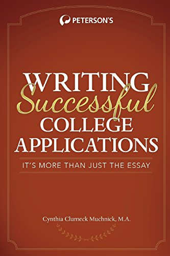 Writing Successful College Applications (Peterson's Writing Successful College Applications)