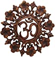 Buddha Groove, Om Wall Hanging, Handmade from Suar Wood