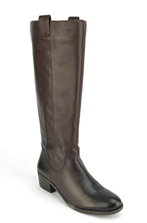 Sole Society Georgeann Women's Dark Brown Leather Riding Boots US7.5