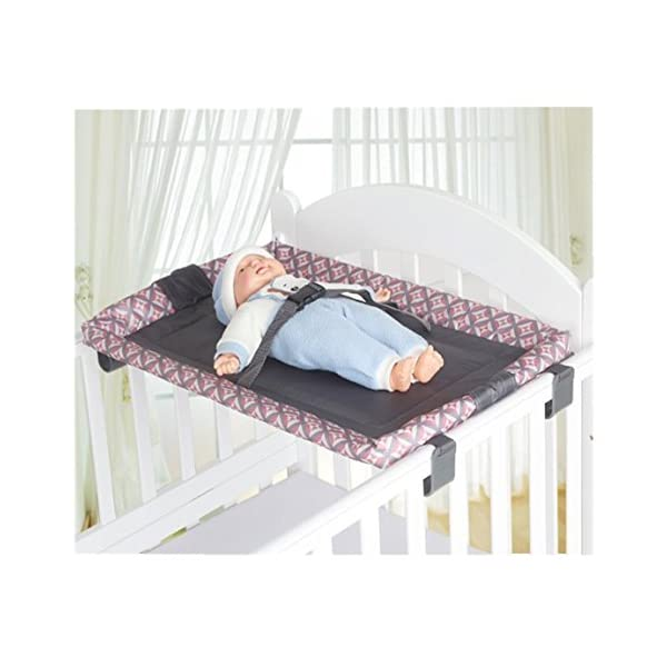 Universal Baby Cot Top Changer 70 X 45 CM CM Portable Changing Table (Grey)