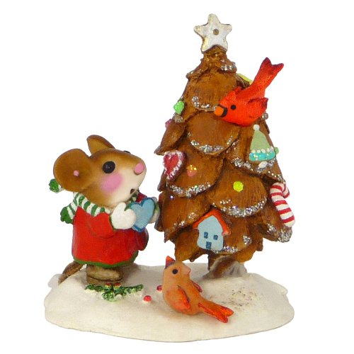 Wee Forest Folk Christmas Mouse The Littlest Pine Cone Tree Stocking Stuffer