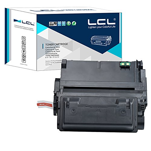 LCL Compatible for HP 42A 42X Q5942A Q5942X Q1339A Q5945A 20000 Page (1-Pack Black) Toner Cartridge for HP LaserJet 4200 4300 4250 4350 4345 Series