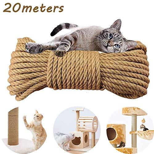 MEISHANG Seil für Katzenbaum,Katzen Kratz Seil,Sisal Schnur,Sisal Kratzbaum Ersatz für,Katzen,Kratzbaum,Kratzseil…