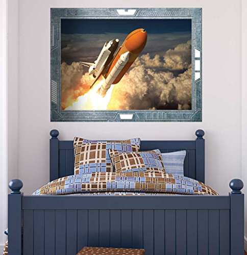 Science Fiction ViewPort Decal The Space Shuttle Launching on a Mission Wall Mural