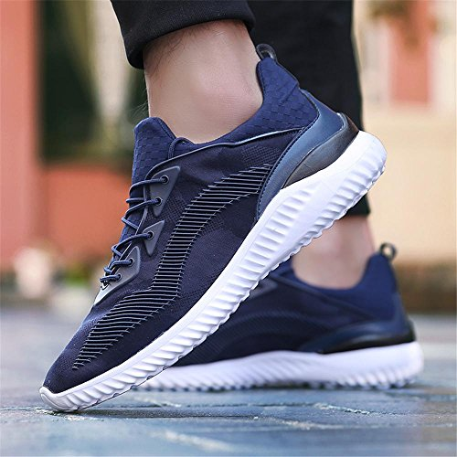 Sportive da Running Scarpe Sneakers blue Donna Uomo Corsa Basse outdoor Dark Ginnastica Scarpe Basket da pSd4x4q