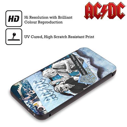 Officiel AC/DC ACDC Rock 'n' Roll Collage Noir Étui Coque Aluminium Bumper Slider pour Apple iPhone 5 / 5s / SE