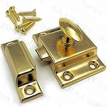 Amazon Bs 3 Brass Plated Cabinet Door Latch With Catch Antique