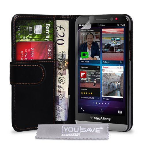 online retailer 4f035 8cbef Yousave Blackberry Z30 Case Black PU Leather Wallet Cover - Buy ...