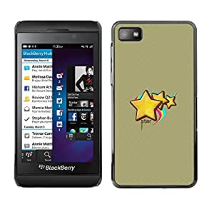 Paccase / SLIM PC / Aliminium Casa Carcasa Funda Case Cover - Cute Star - Blackberry Z10