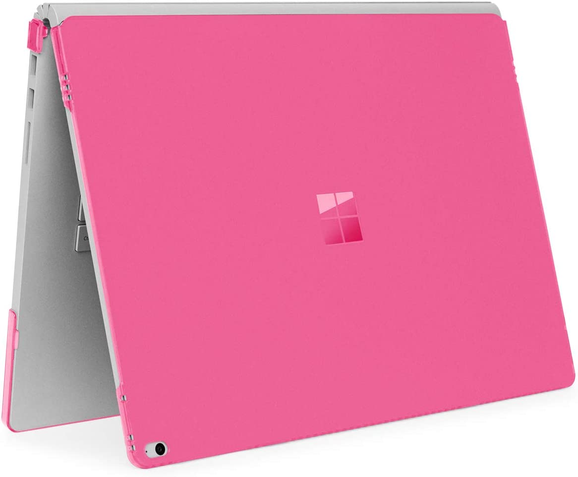 mCover Hard Shell Case for Microsoft Surface Book Computer 1 & 2 & 3 (15-inch Display, Pink)