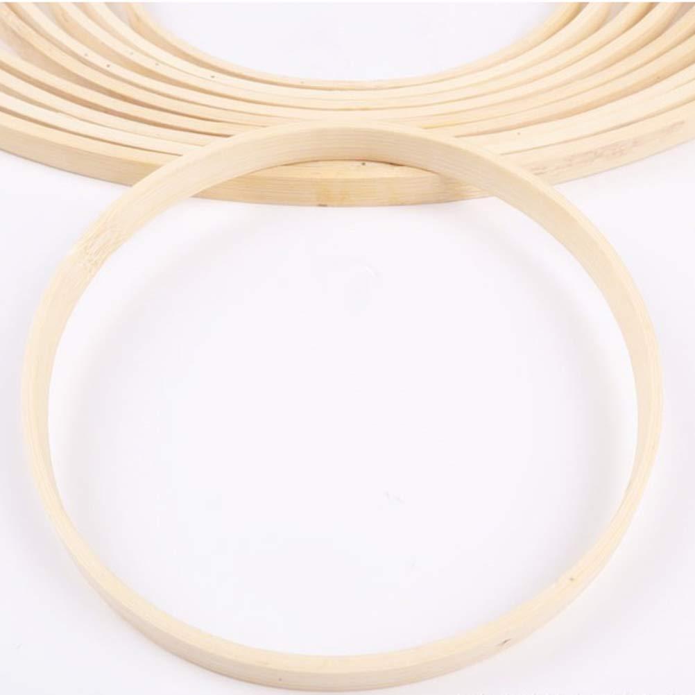 LIOOBO 10Pack Bamb/ú de Madera Dreamcatcher Anillos Aros Macrame Redondos para Dream Catcher DIY Craft