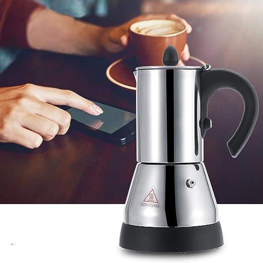Cafetera exprés eléctrica, cafetera de acero inoxidable 200/300ml ...