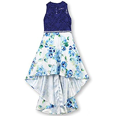 Speechless Girls' Big 7-16 Party Dress with Mock Neck High-Low Hemline,
