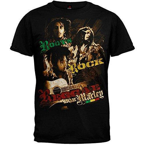 Bob Marley - Roots Rock Photos T-Shirt