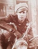 """Marlon Brando in """"The Wild One"""" Sepia Poster"""