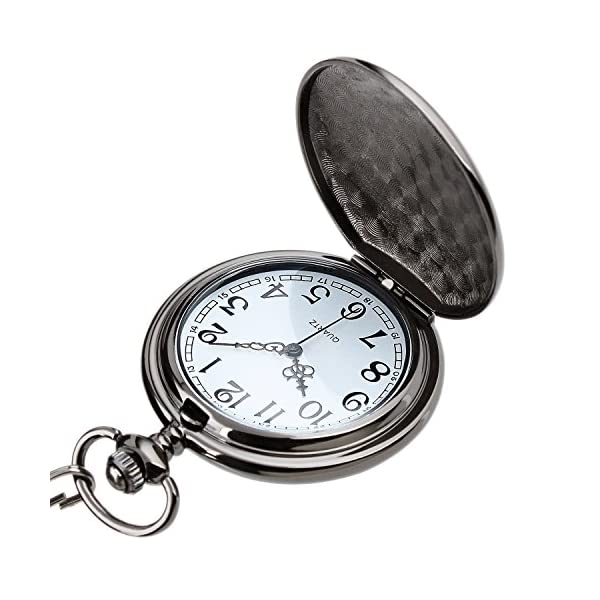 i-Auto Time Bronze Pocket Watch with Chain