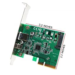 IO Crest IOCrest USB 3.1 Gen II 10Gbps 2-Port Full-Duplex Controller X4 Slot Card, Type-C and Type-A Ports, SI-PEX20189 Components Other