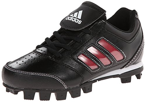 adidas Performance Change Up MD 2 K Baseball/Softball Cleat (Little Kid/Big Kid), Black/University Red/White, 2.5 M US Little Kid (Cleats Youth Baseball)