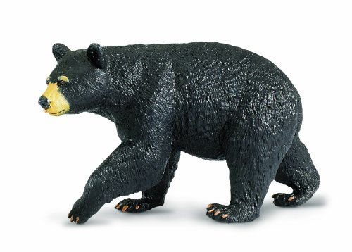 Black Bear Figurine - Safari Ltd  Wild Safari North American Wildlife Black Bear