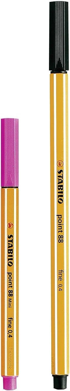 Rotulador puntafina STABILO point 88 mini - Estuche con 12 colores: Amazon.es: Juguetes y juegos
