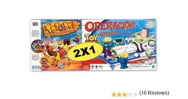 Hasbro Juegos Infantiles Tozudo + Operación Toy Story 38295500 ...