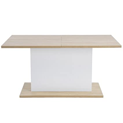 HOMY CASA Extendable Rectangular Dining Table, Mltifunction Space Saving  Wood Table (Extendable Beech Table