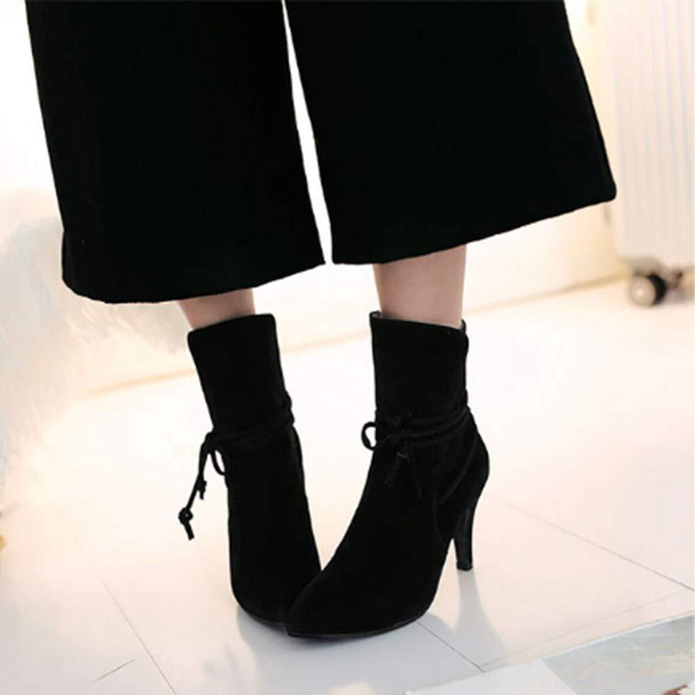 YSFU Stiefel Damen Damen Damen Stiefeletten Volltonfarbe Mode Freizeitschuhe Damen Stiefelies Stöckel Absatz Herbst Winter Outdoor ee43e2