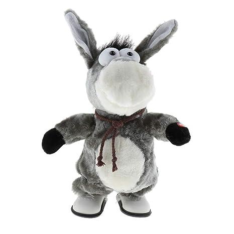 Sharplace Juguete de Animales de Peluche Eléctrica Figura de Burro/Conejo/ Gato de Baile