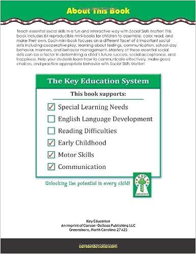 Social Skills Matter!, Grades PK - 2: Social Narrative Mini-Books ...