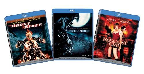Sci-Fi Superheroes 3-pack bundle (Ghost Rider, Underworld, Resident Evil) [Blu-ray]