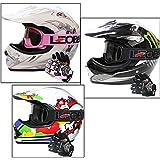 Leopard LEO-X18 Childrens Kids MX Helmet Motocross Dirt Bike Off Road Crash Helmet & Gloves & Goggle Monster XL