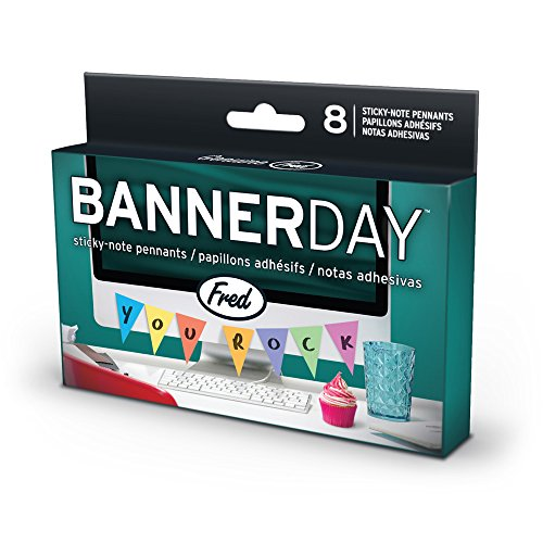 Fred BANNER DAY Pennant Sticky Note Pads, Set of 8