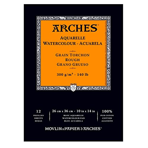 Arches Watercolor Pad, Rough, 10