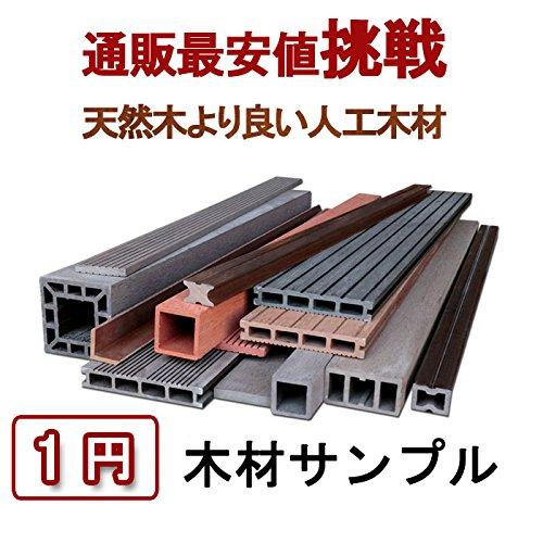 【お試し価格★1円】人工木材 ウッドデッキ ウッドパネル