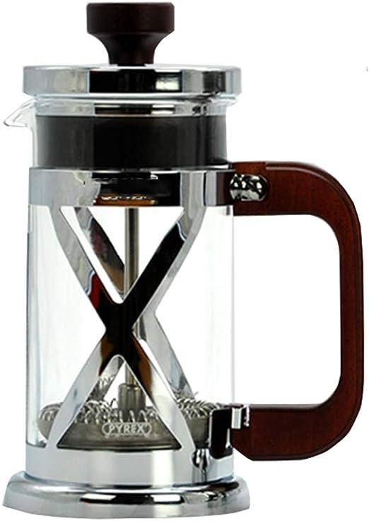 Método Olla de presión Tipo de Filtro Cafetera de preparación Manual Cafetera de Vidrio Resistente al