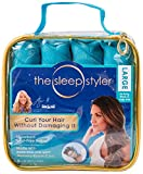 The Sleep Styler -  As Seen on Shark Tank - Absorbent Heat Free Curlers, Curl Your Hair Without Damaging it, Includes 8 Large (6 Inch) Rollers for Long Thick or Curly Hair
