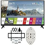 60 inch lg led tv - LG 55-inch Full HD Smart TV 2017 Model (55LJ5500) with Deco Mount Slim Flat Wall Mount Ultimate Bundle Kit for 32-60 inch TVs & Stanley Transformer Tap USB w/ 6-Outlet Wall Adapter & 2 Ports