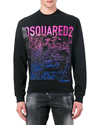 DSQUARED2 Men's Sweatshirt S74GU0217 - Black, L (Dsquared2 Mens Clothing)