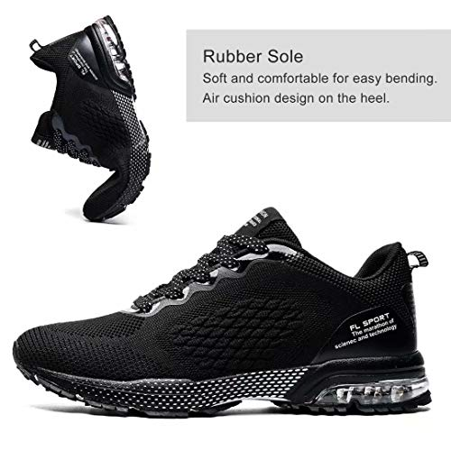 Huacud Mens Running Shoes Trail Sneakers Air Cushion Non Slip Tennis Sports Casual Walking Athletic for Basketball