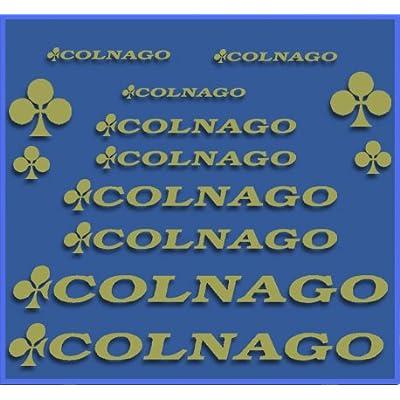 Ecoshirt PI-FEYC-L9O2 Stickers Colnago Dr1091 Vinyl Adesivi Decal Aufkleber КТу MTB Stickers Bike, Gold: Automotive