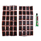 MonkeyJack 48 Rubber Bike Puncture Patches Bicycle Tire Inner Tube Repair Kits Glue