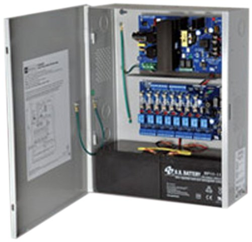 Altronix ACM Series Access Power Controllers with 8 Fused Outputs Power Supply/Chargers, 12/24 VDC, 4/3 Amps (Pack of 1) ()