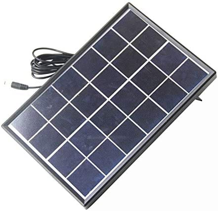 Fltaheroo 6 Watt 6 V Solar Zelle Polykristalline Solar Panel DIY Solar Strom Anlage FüR 3,7 V Akku Ladeger?t Led Licht 5521 Kabel 3 Meter
