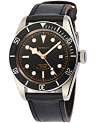 41mm Corgeut Sapphire Glass Black Bezel Citizen Miyota Automatic Wrist Watch