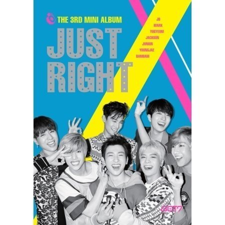 GOT7 - Just Right (3rd Mini Album) CD + 84p Photobook + Photocard + Folded Poster + GOT7 Postcard + Sticker + Extra Gift Photocard