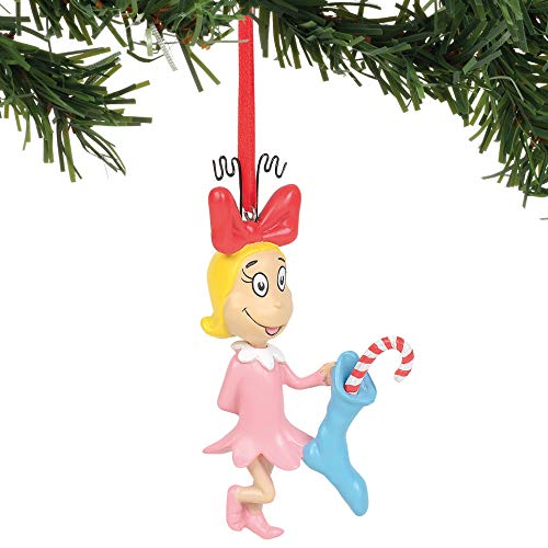 Department 56 Dr. Seuss The Grinch Cindy Lou Who Hanging Ornament, 3.5 Inch, Multicolor