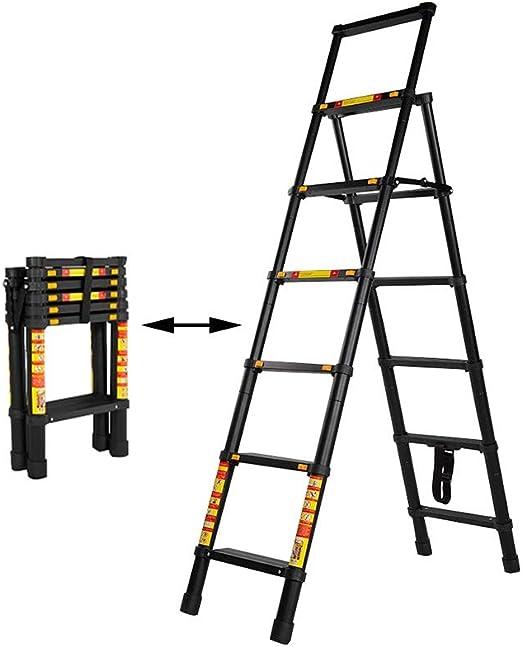 XSJZ Escalera Telescópica, En Espiga Plegable Escalera Telescópica Multifunción Aleación de Aluminio Gruesa Elevación Telescópica Pequeña Escalera Escalera Plegable: Amazon.es: Hogar