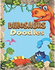 """Dinosaurs Sketch Book For Kids: Practice How To Draw Workbook, with 120 Large Blank Pages of 8.5""""x11"""" Blank Paper for Drawing, Doodling or Learning to Draw ((Sketch Books For Kids)) (Volume 2)"""