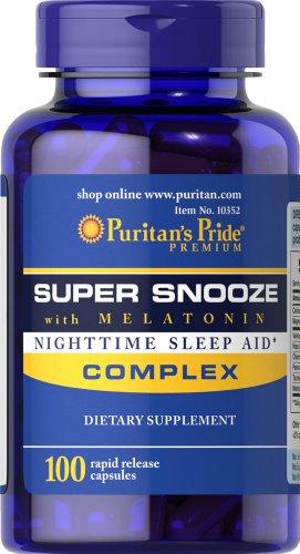 puritans-pride-super-snooze-with-melatonin-rapid-release-capsules100-count